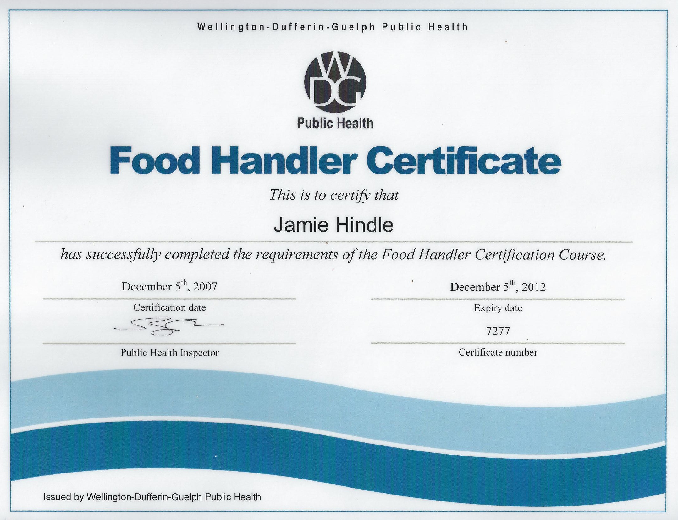 Ca Food Handler S License